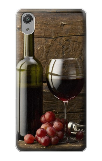 Printed Grapes Bottle and Glass of Red Wine Sony Xperia X Performance Case