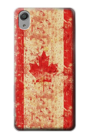 Printed Canada Flag Old Vintage Sony Xperia X Performance Case