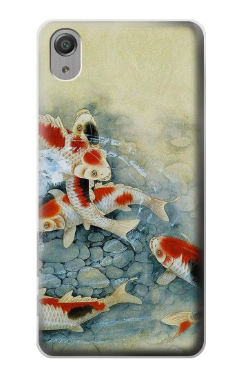 Printed Koi Carp Fish Art Painting Sony Xperia X Performance Case