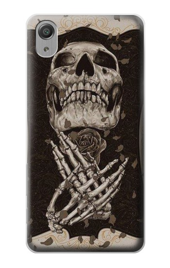 Printed Skull Rose Sony Xperia X Performance Case