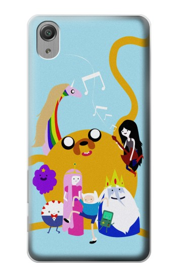 Printed Adventure Time Finn Jeck Marceline Bubblegum Sony Xperia X Performance Case