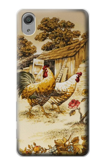 Printed French Country Chicken Sony Xperia X Performance Case