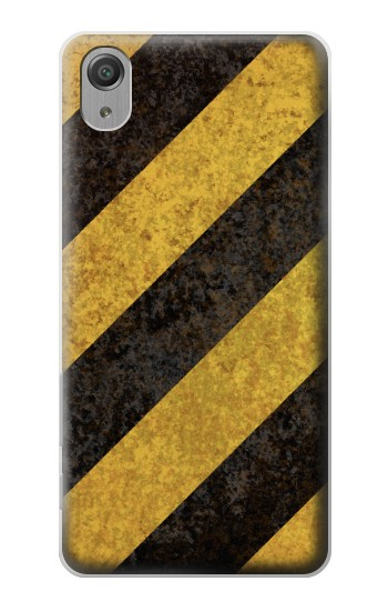 Printed Yellow and Black Line Hazard Striped Sony Xperia X Performance Case