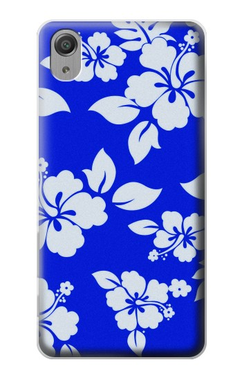 Printed Hawaiian Hibiscus Blue Pattern Sony Xperia X Performance Case