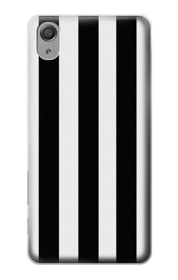 Printed Black and White Vertical Stripes Sony Xperia X Performance Case