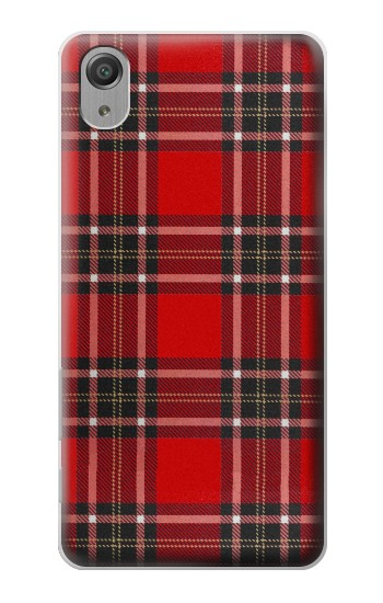 Printed Tartan Red Pattern Sony Xperia X Performance Case