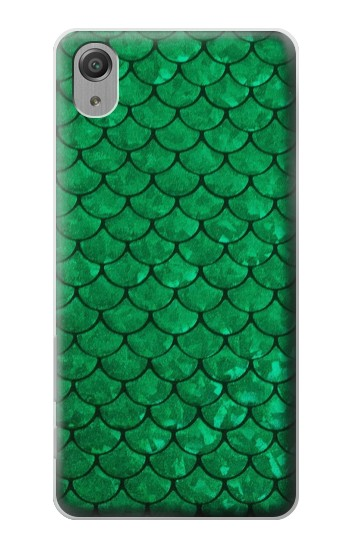 Printed Green Fish Scale Pattern Sony Xperia X Performance Case
