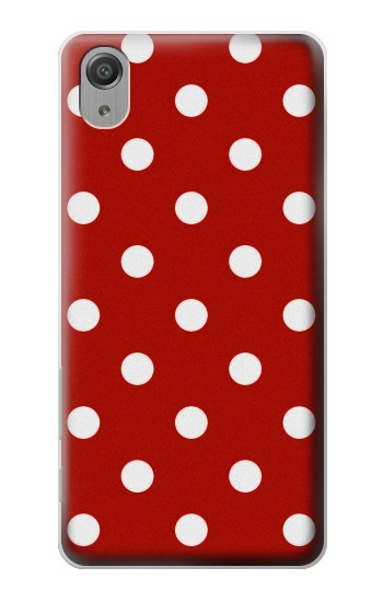Printed Red Polka Dots Sony Xperia X Performance Case