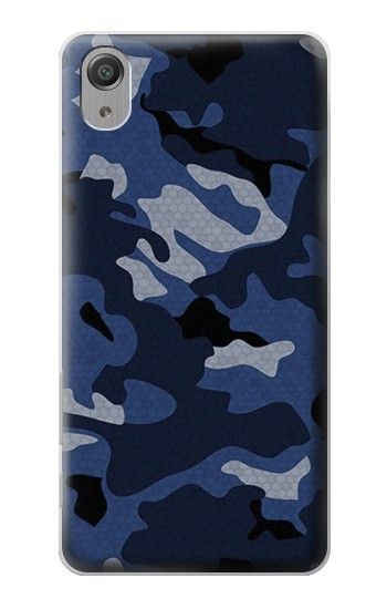 Printed Navy Blue Camouflage Sony Xperia X Performance Case