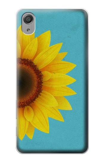 Printed Vintage Sunflower Blue Sony Xperia X Performance Case