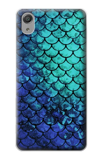 Printed Green Mermaid Fish Scale Sony Xperia X Performance Case