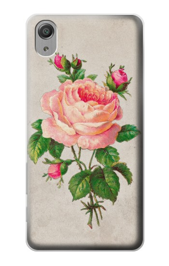 Printed Vintage Pink Rose Sony Xperia X Performance Case