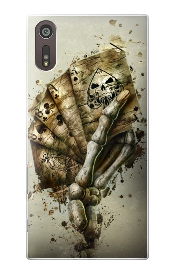 Printed Skull Card Poker Sony Xperia XZ Case