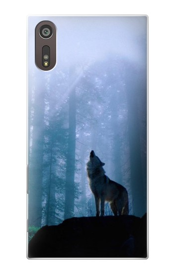 Printed Wolf Howling in Forest Sony Xperia XZ Case