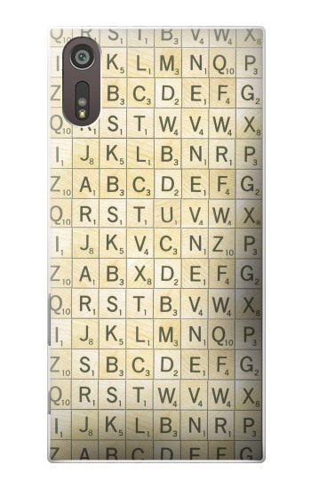 Printed Scrabble Word Game Sony Xperia XZ Case