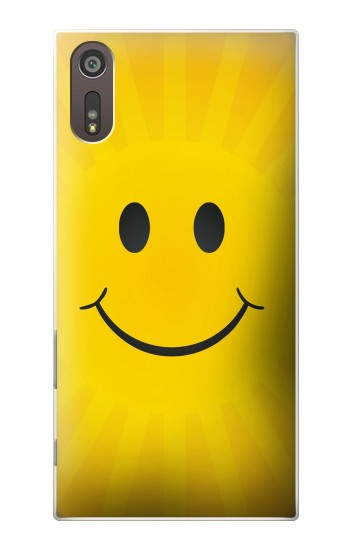 Printed Yellow Sun Smile Sony Xperia XZ Case