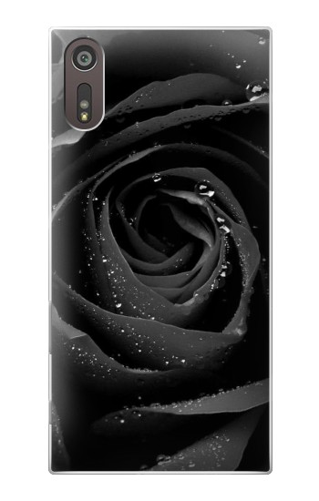 Printed Black Rose Sony Xperia XZ Case