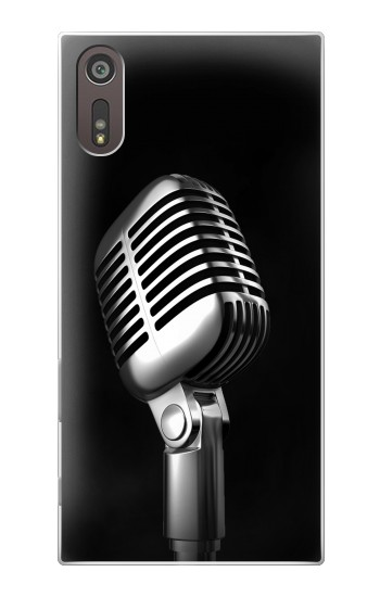 Printed Retro Microphone Jazz Music Sony Xperia XZ Case