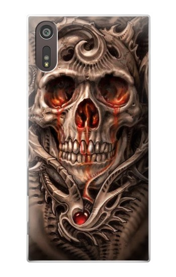 Printed Skull Blood Tattoo Sony Xperia XZ Case