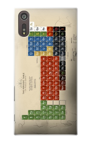 Printed The Periodic Table of Middle Earth The Lord of The Rings Sony Xperia XZ Case