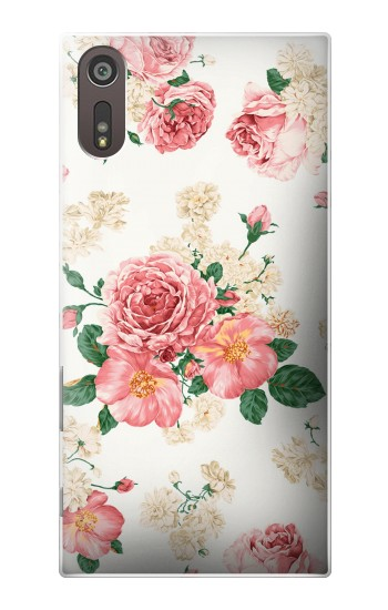 Printed Rose Pattern Sony Xperia XZ Case