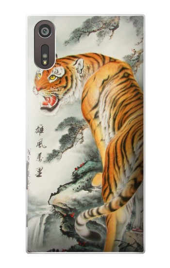 Printed Chinese Tiger Painting Sony Xperia XZ Case