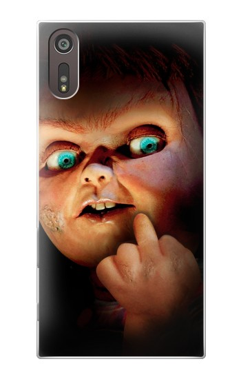 Printed Chucky Middle Finger Sony Xperia XZ Case