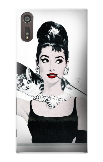 Printed Audrey Hepburn Breakfast at Tiffany Sony Xperia XZ Case