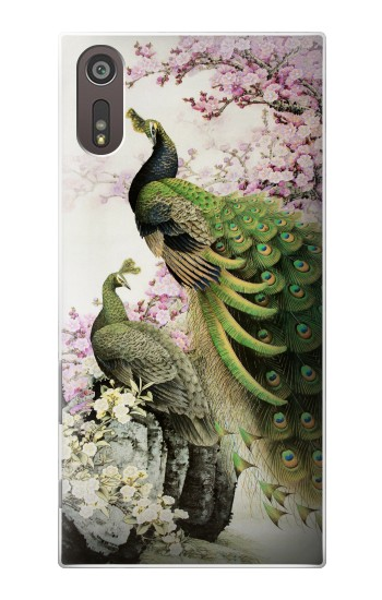 Printed Peacock Chinese Brush Painting Sony Xperia XZ Case