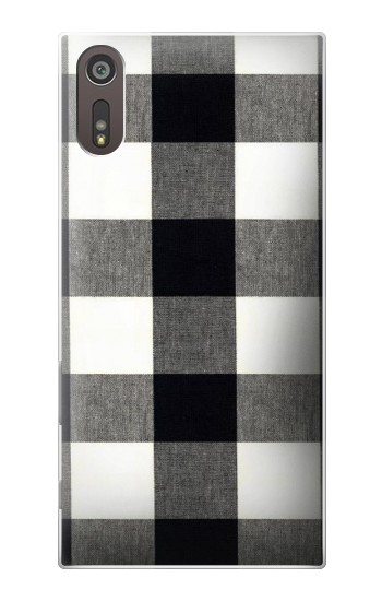 Printed Black and White Buffalo Check Pattern Sony Xperia XZ Case