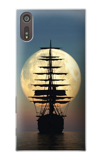 Printed Pirate Ship Moon Night Sony Xperia XZ Case