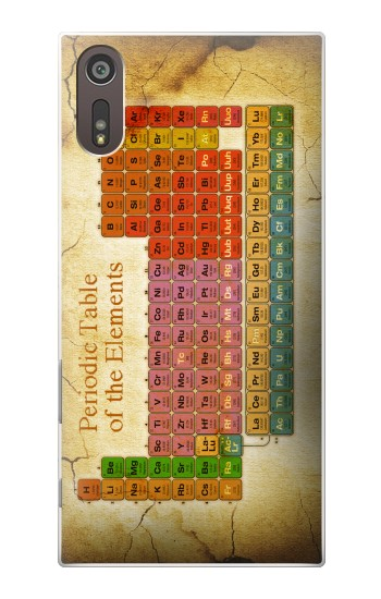 Printed Vintage Periodic Table of Elements Sony Xperia XZ Case