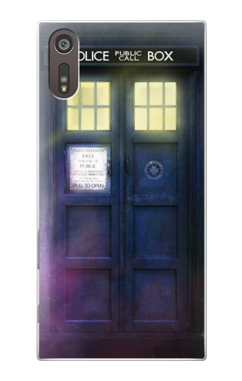 Printed Tardis Phone Box Sony Xperia XZ Case