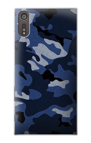 Printed Navy Blue Camouflage Sony Xperia XZ Case