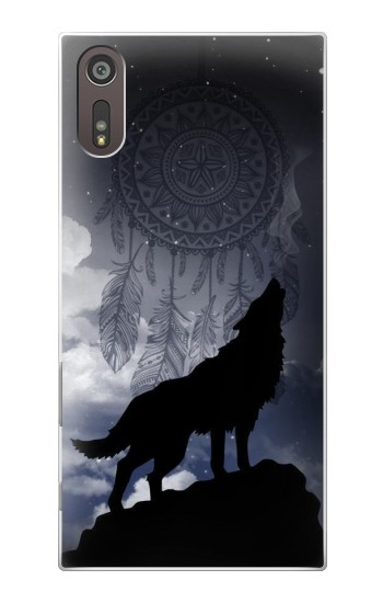 Printed Dream Catcher Wolf Howling Sony Xperia XZ Case