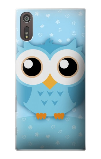 Printed Cute Blue Owl Sony Xperia XZ Case