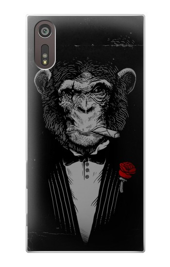 Printed Funny Monkey God Father Sony Xperia XZ Case