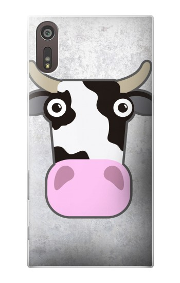 Printed Cow Cartoon Sony Xperia XZ Case