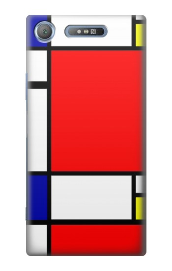 Printed Composition Red Blue Yellow Sony Xperia E3 Case