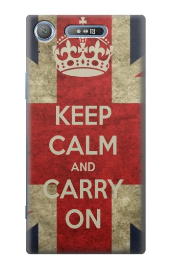 Printed Keep Calm and Carry On Sony Xperia E3 Case