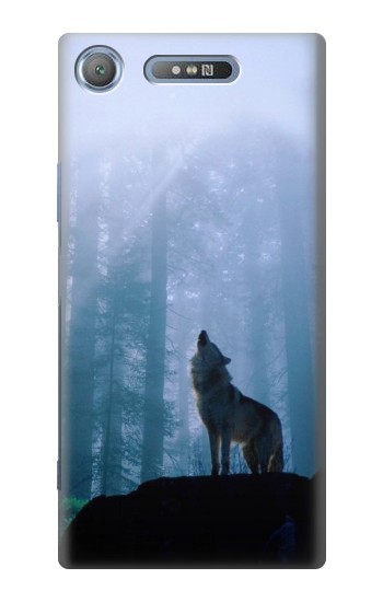 Printed Wolf Howling in Forest Sony Xperia E3 Case