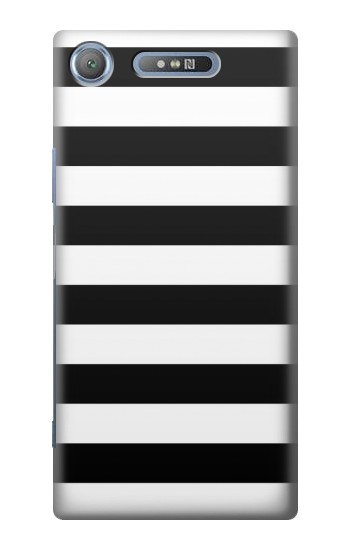 Printed Black and White Striped Sony Xperia E3 Case