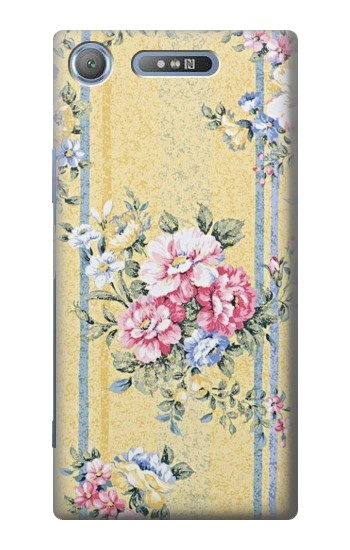 Printed Vintage Flowers Sony Xperia E3 Case