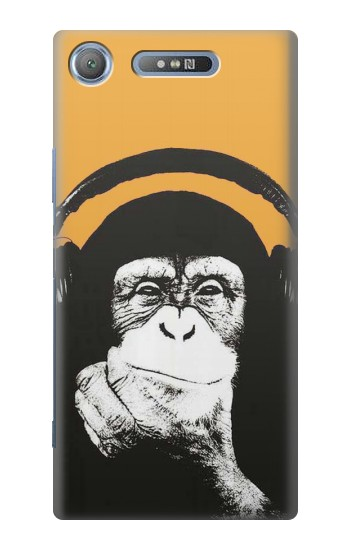 Printed Funny Monkey with Headphone Pop Music Sony Xperia E3 Case