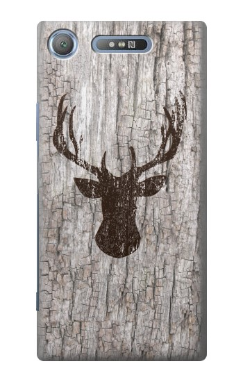 Printed Deer Head Old Wood Texture Sony Xperia E3 Case
