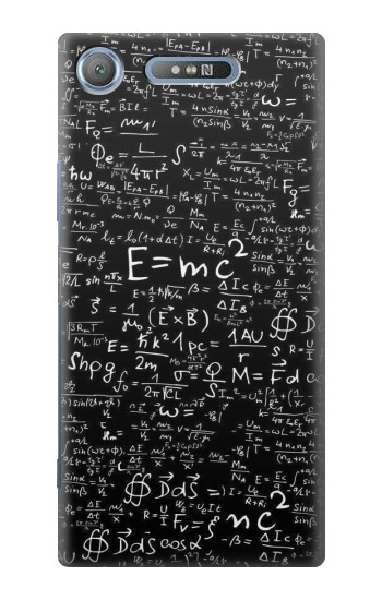 Printed Mathematics Physics Blackboard Equation Sony Xperia E3 Case