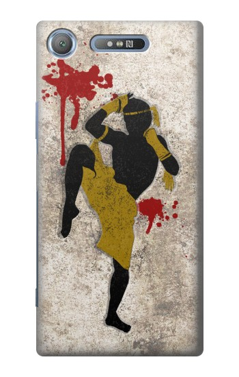Printed Muay Thai Fight Boxing Blood Splatter Sony Xperia E3 Case