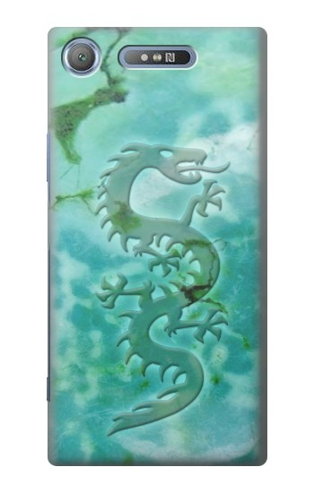 Printed Chinese Dragon Green Turquoise Stone Sony Xperia E3 Case