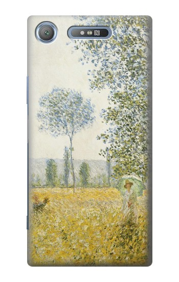Printed Claude Monet Fields In Spring Sony Xperia E3 Case