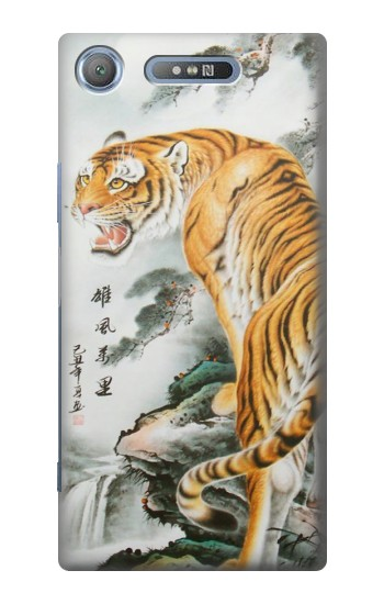 Printed Chinese Tiger Painting Tattoo Sony Xperia E3 Case